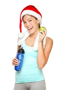 Christmas fitness woman
